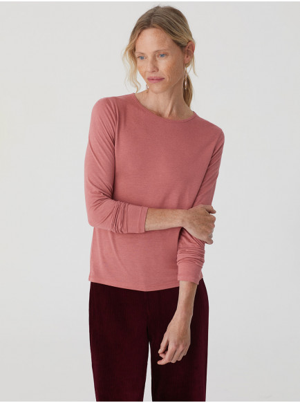 Wool Basic T Shirt Light Pink