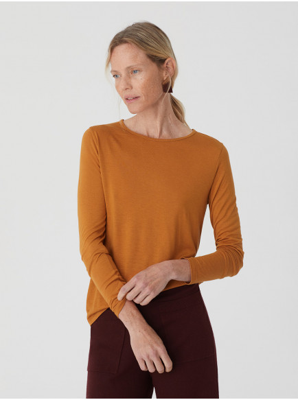 Wool Basic T Shirt Ochre