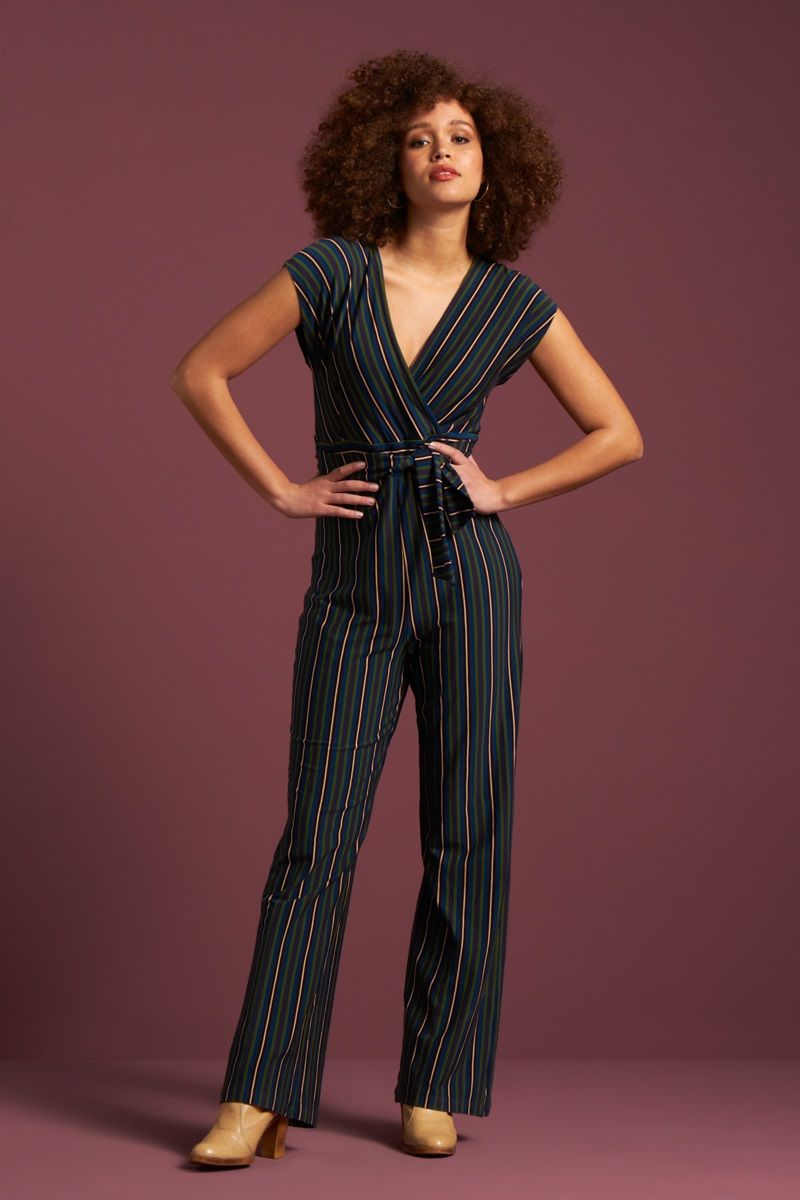 Lot Jumpsuit Elmore Stripe Black