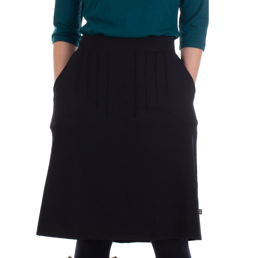 Skirt Luz Black Den Crepe Black
