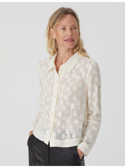 Leave Jacquard Shirt Ecru