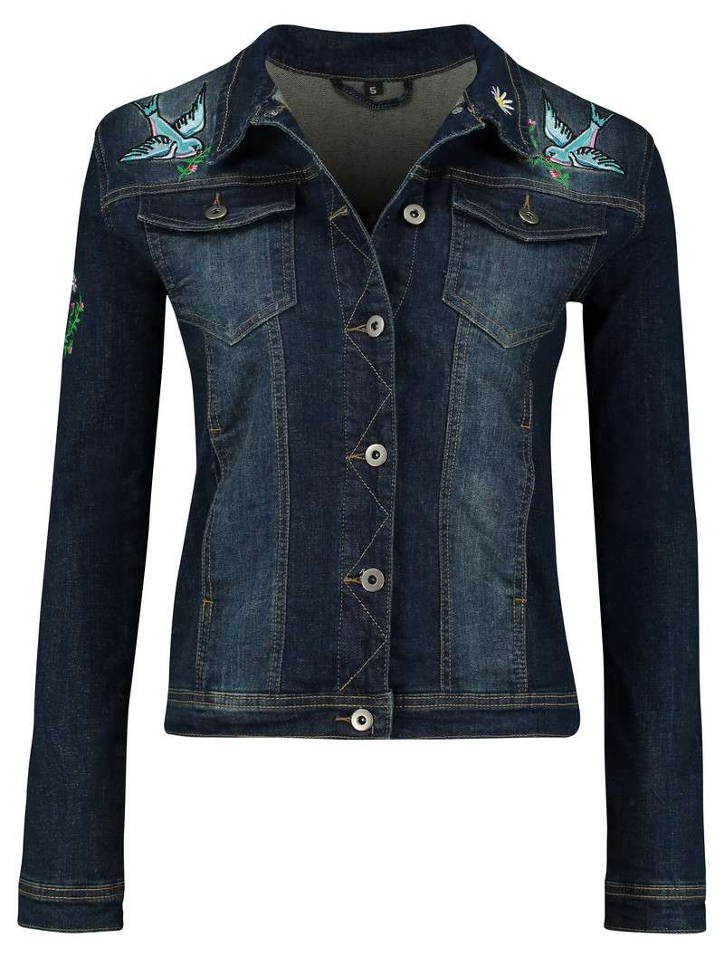 Jacket Jeans Button Blue