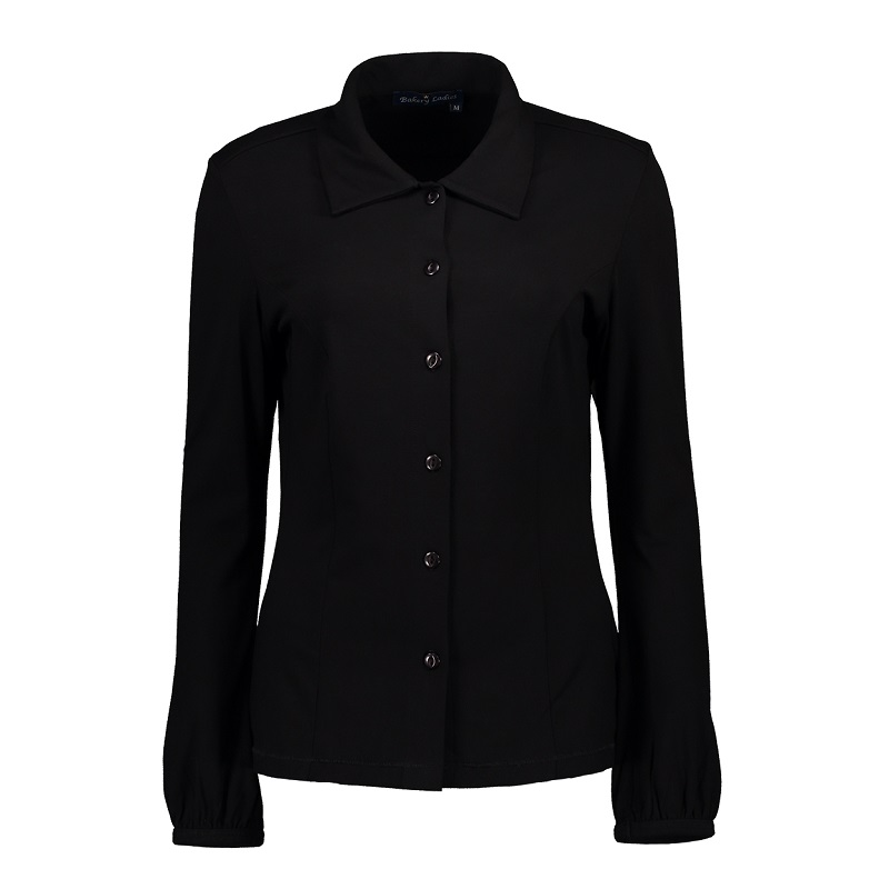 Long Sleeve Polo Ginny Black
