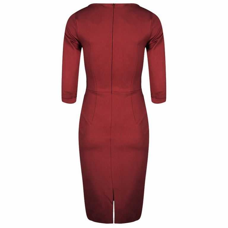 Spy Wiggle Dress Ruby