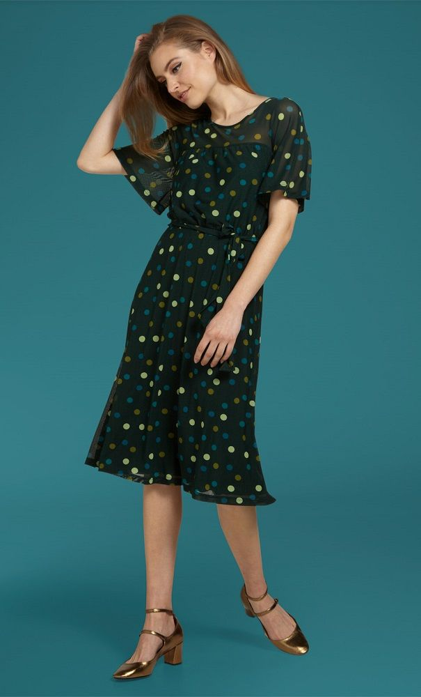Pia Dress Fettini Sycamore Green