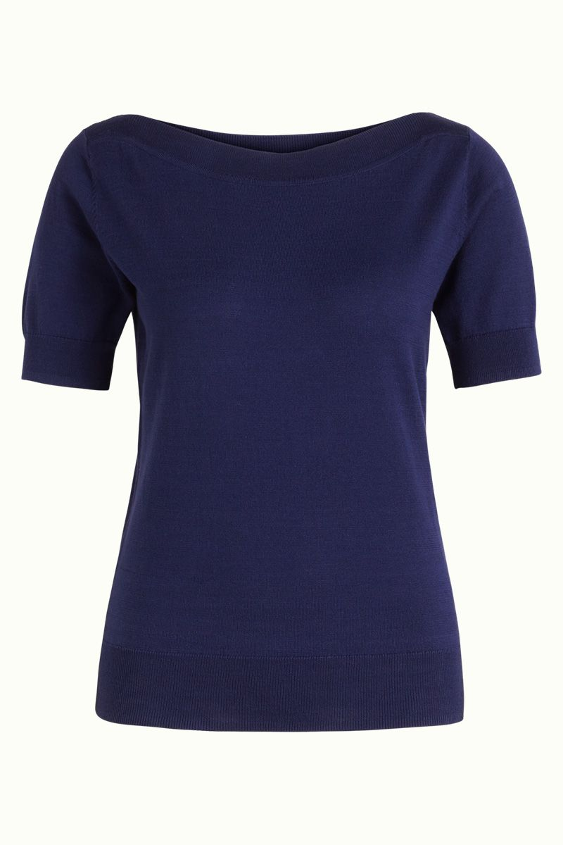 Audrey Top Cottonclub Peacoat Blue