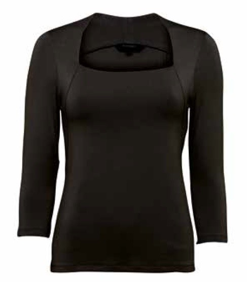 Top Stephanie3/4 Sleeves Black