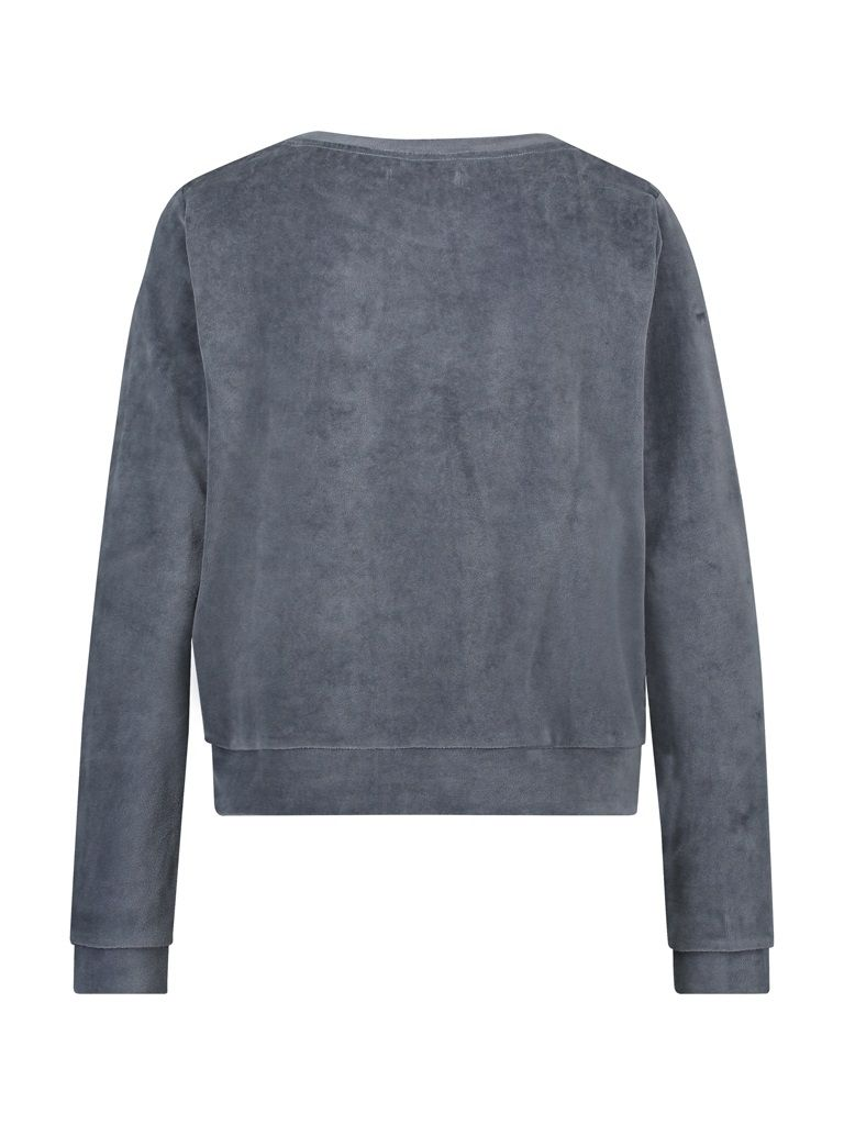 Sweater velvet grey