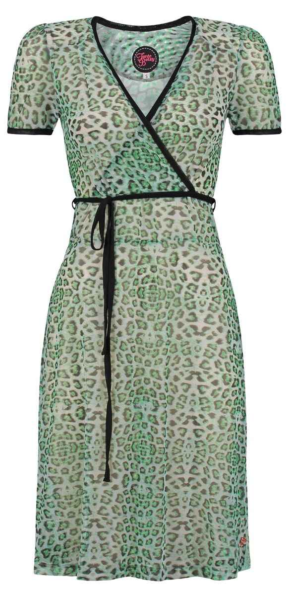 Dress Auntie Leopard Green