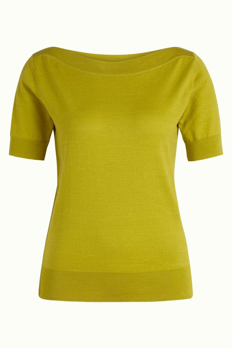 Audrey Top Cottonclub Cress Yellow