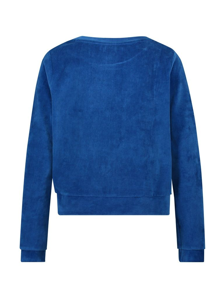 Sweater velvet blue