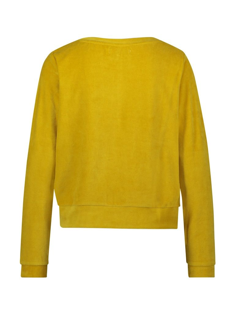Sweater velvet yellow