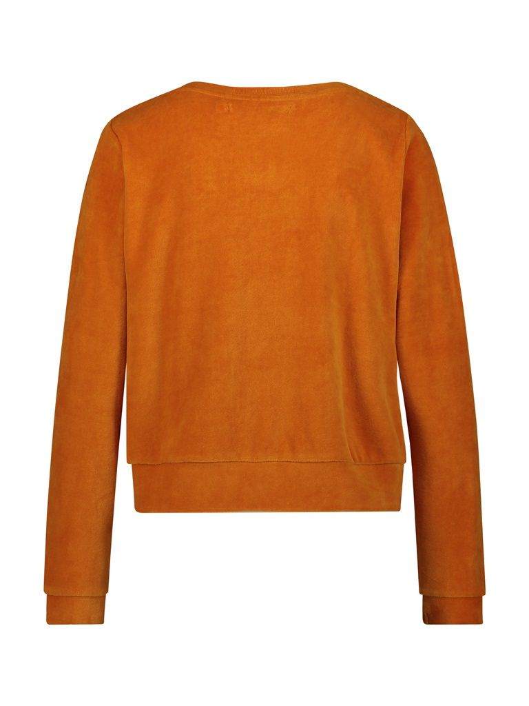 Sweater velvet orange
