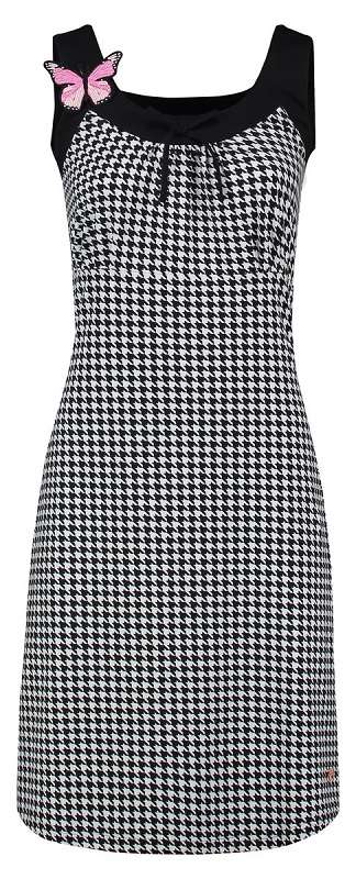 Dress Josephine Houndstooth Black