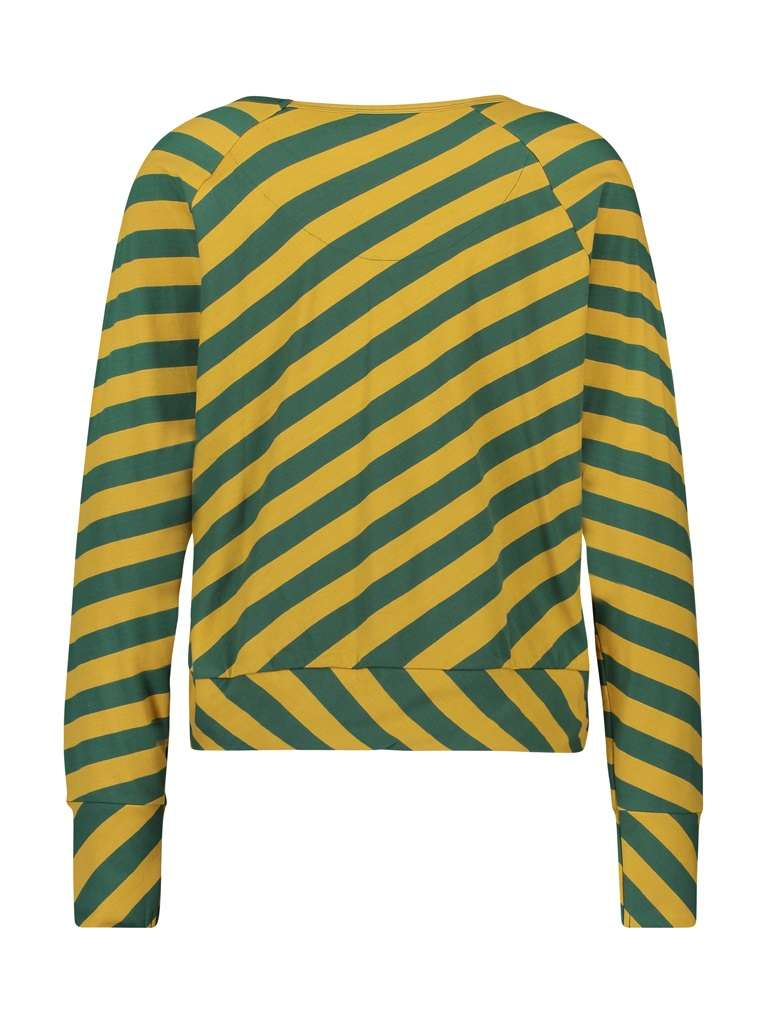 Shirt long sleeve big stripes yellow