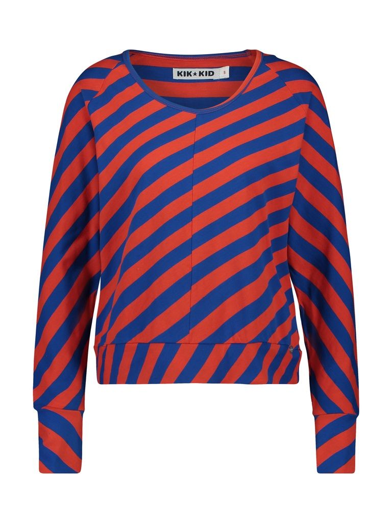 Shirt long sleeve big stripes red