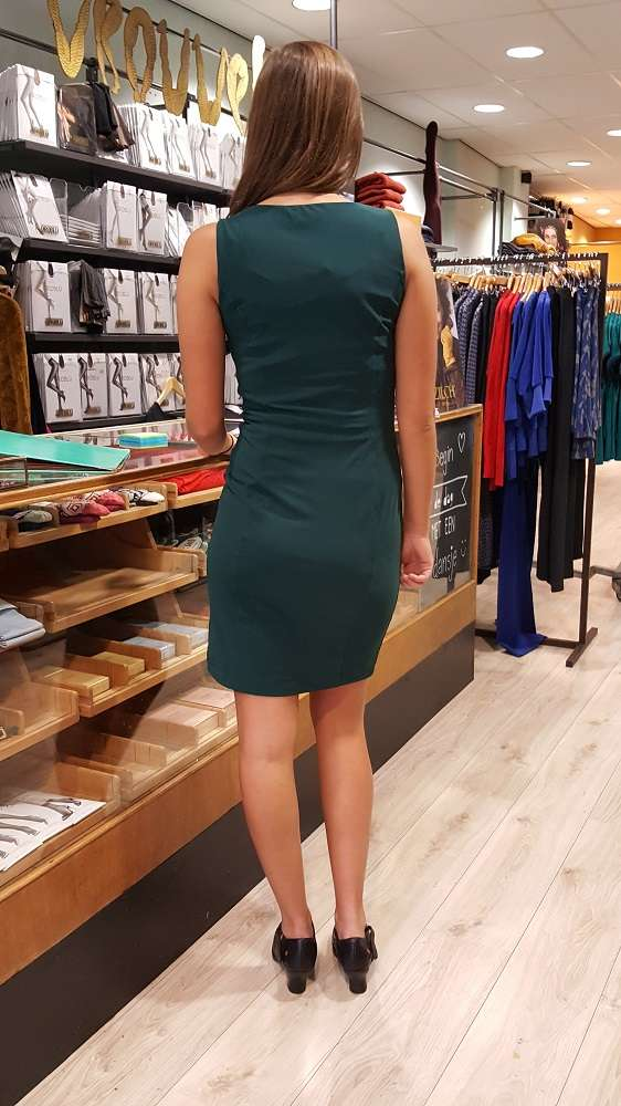 Travel Fit Dress Sleeveless Forest Green
