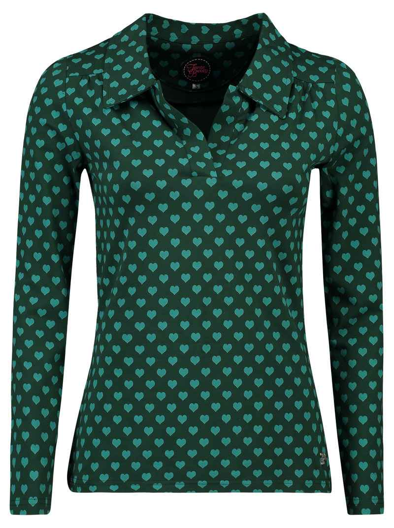 Shirt Nellie Hearts Green