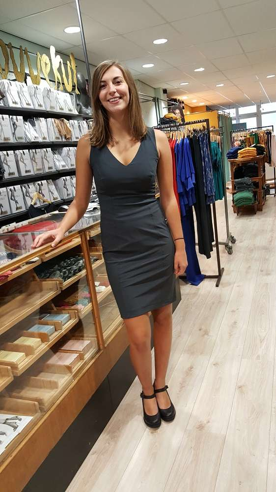 Travel Fit Dress Sleeveless Grey