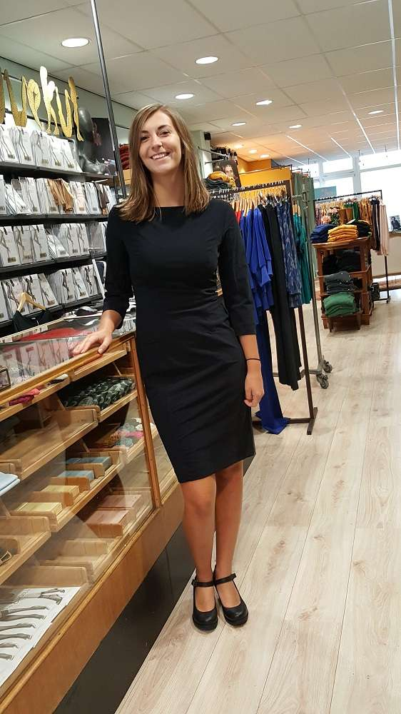 Travel Fit Dress 3/4 Sleeve Black