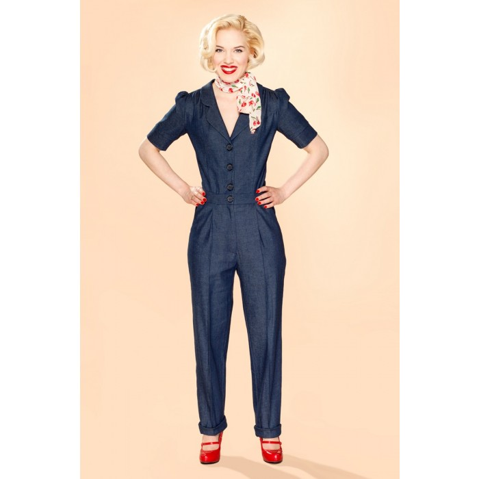 Classic Jumpsuit Dark Denim