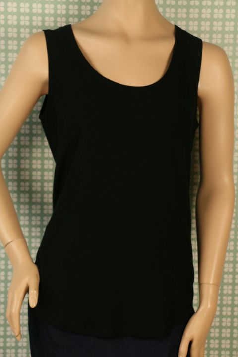 Top Viscose/elastan Black