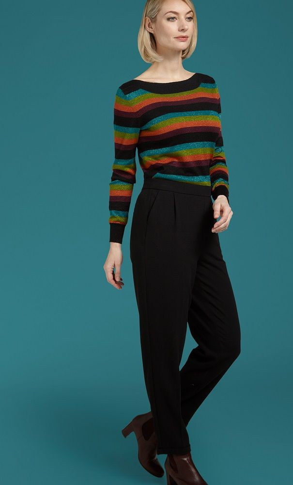 Audrey Top Glitter Stripe Black