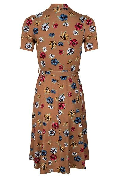 Revers Dress TricotCorniglia Flowers