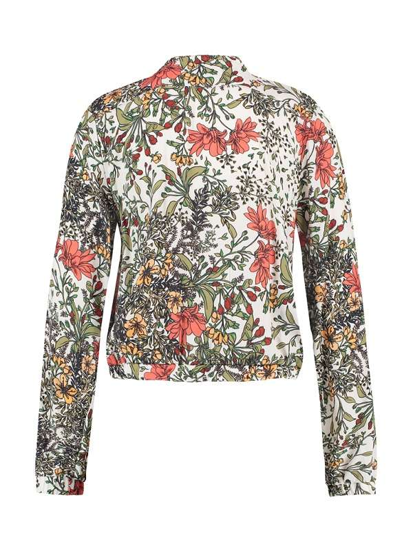 Jacket Off White Flowers