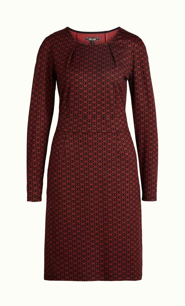 Mona Dress Loopy Sienna Red