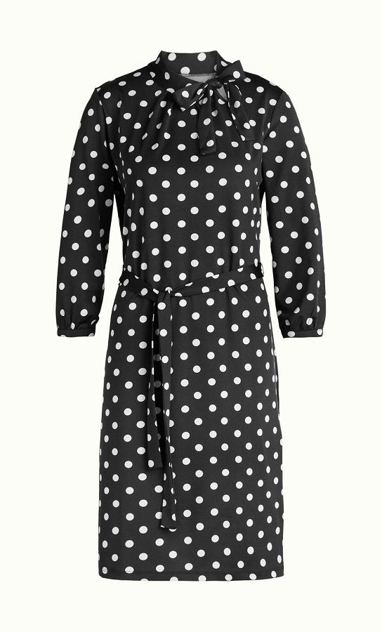 Violet Dress Partypolka Black