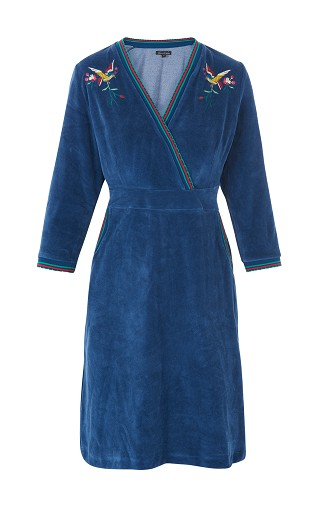 Teddy Dress Autum Bleu