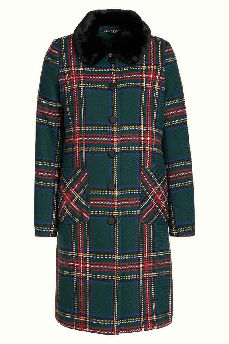 Nathalie Coat Highlands Black