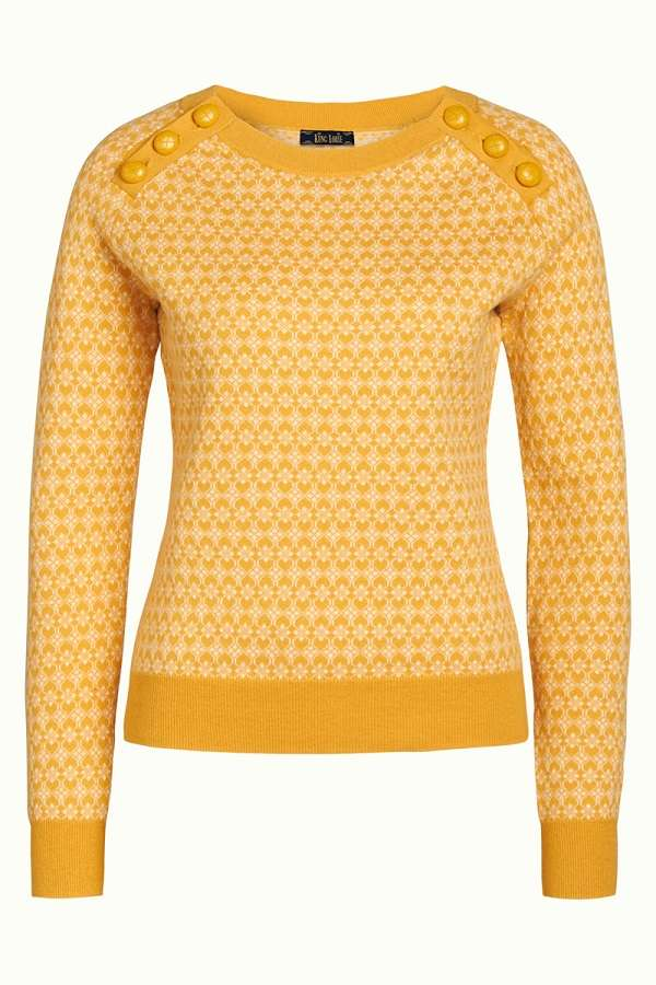 Button Jumper Langlauf Sunset Yellow