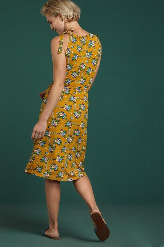 Holly Dress Goldrush Sunset Yellow