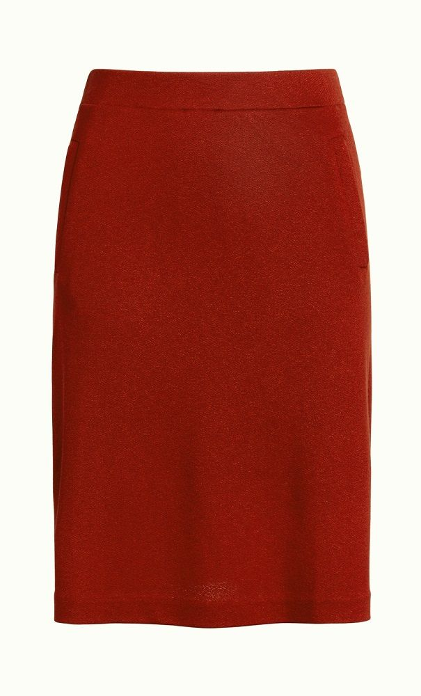 Davis Skirt Milano Crepe Rio Red