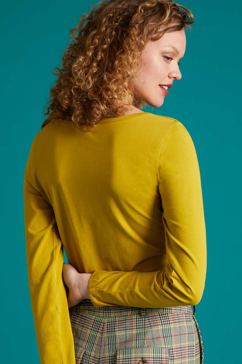 Milou Top Cotton Lycra Light Curry Yellow