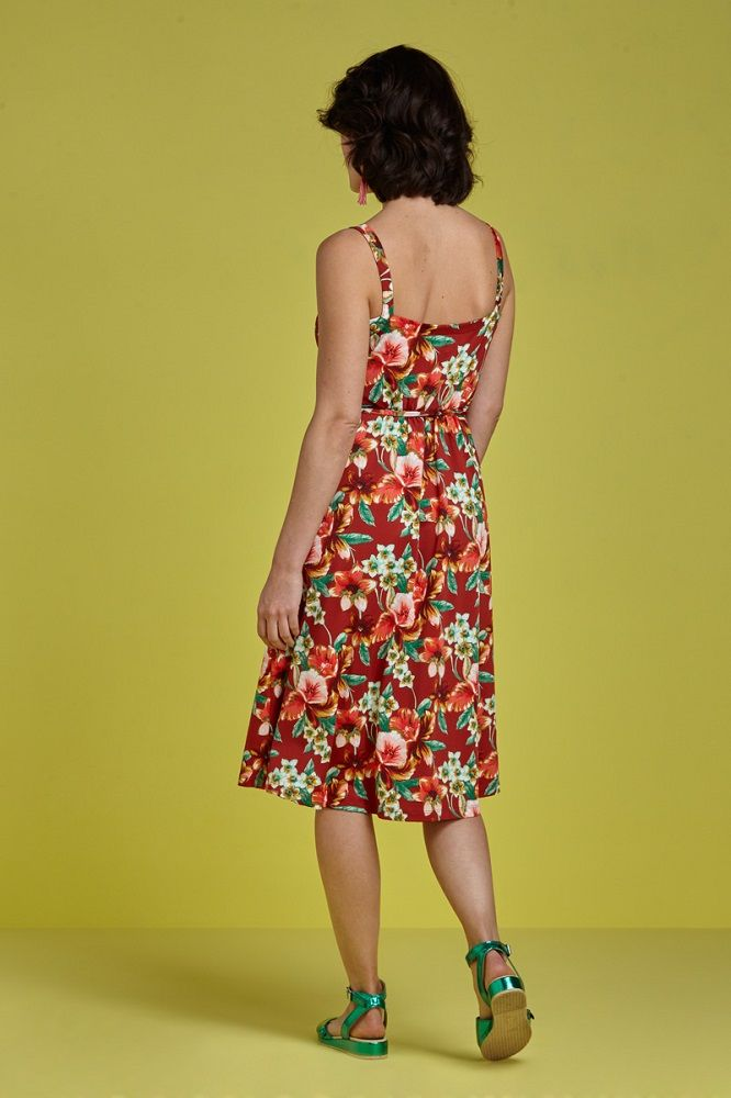 Allison Dress Magnolia Sienna Red