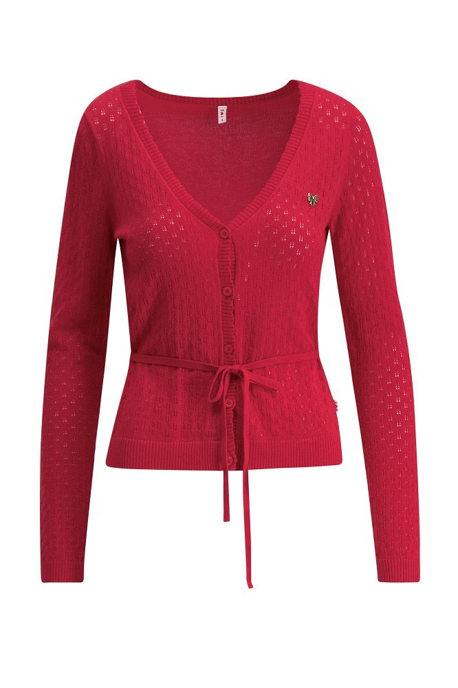 Logo Loving Heart Cardi Red Hay