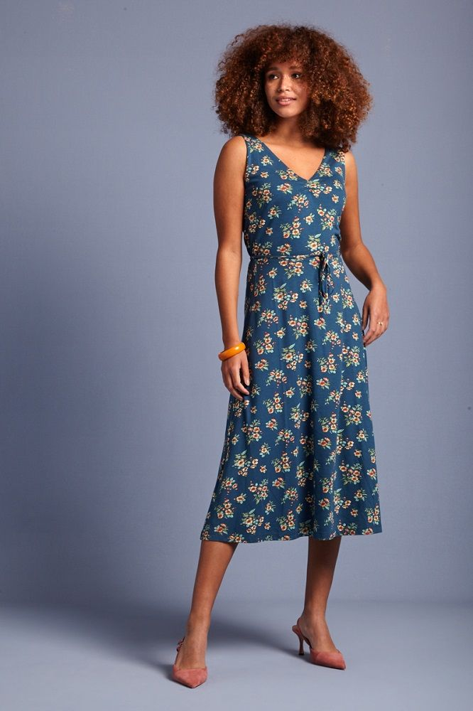 Anna dress Lucky Tile Blue