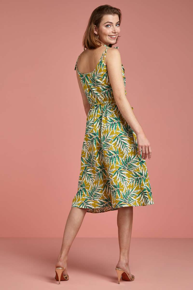 Viola Ruffle Dress ScalaCress yellow