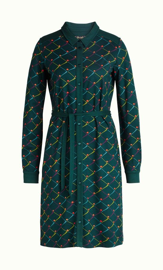 Ellis Dress Rizzle Alpine Green