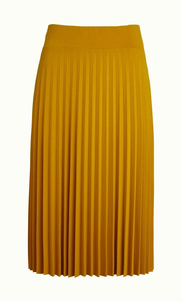 Border Plisse Skirt Soleil Sunset Yellow
