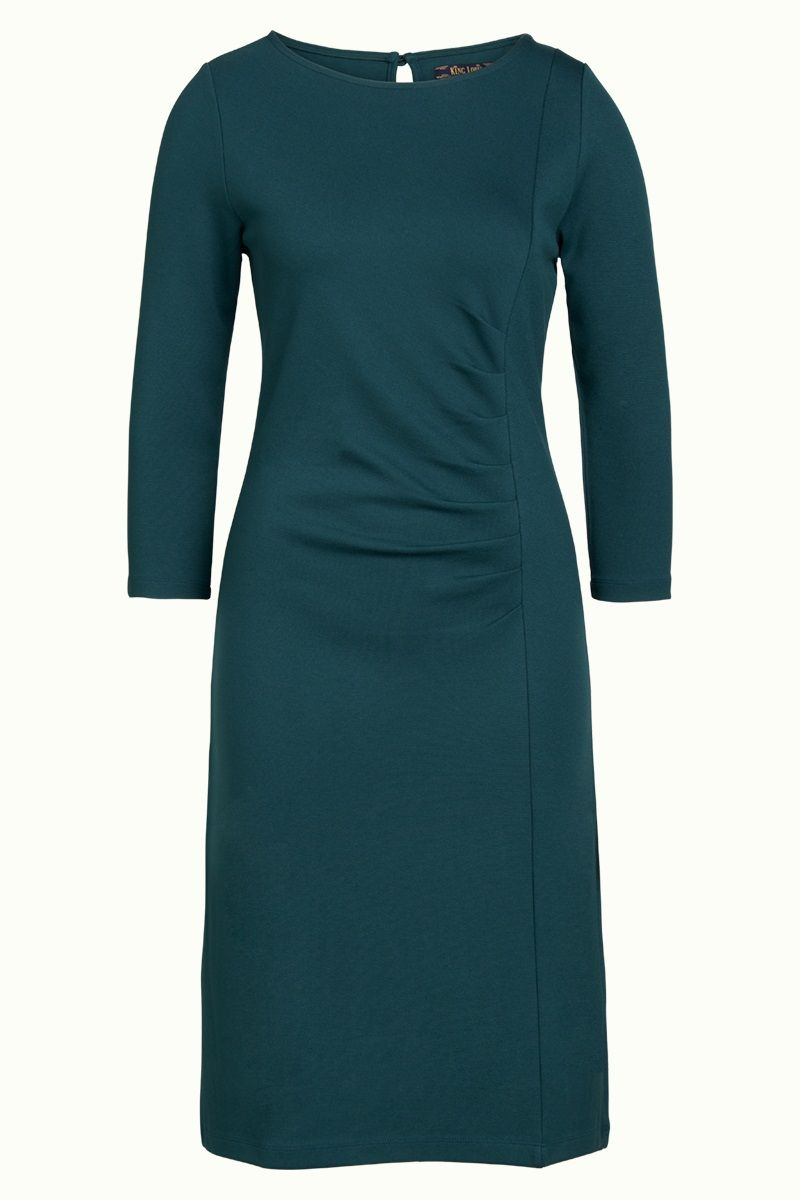 Brigitte Dress Milano Uni Pine Green