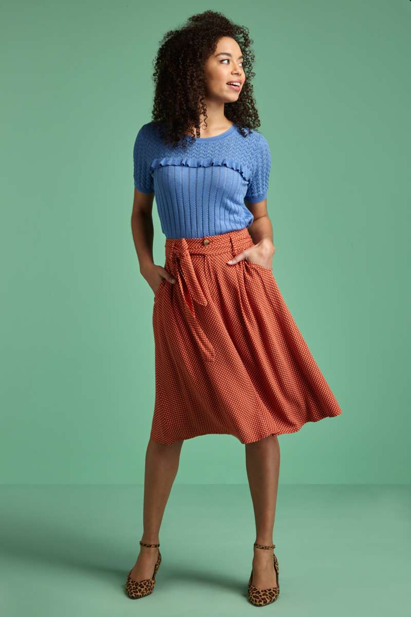 Ava Skirt Mini-Me Clay Red