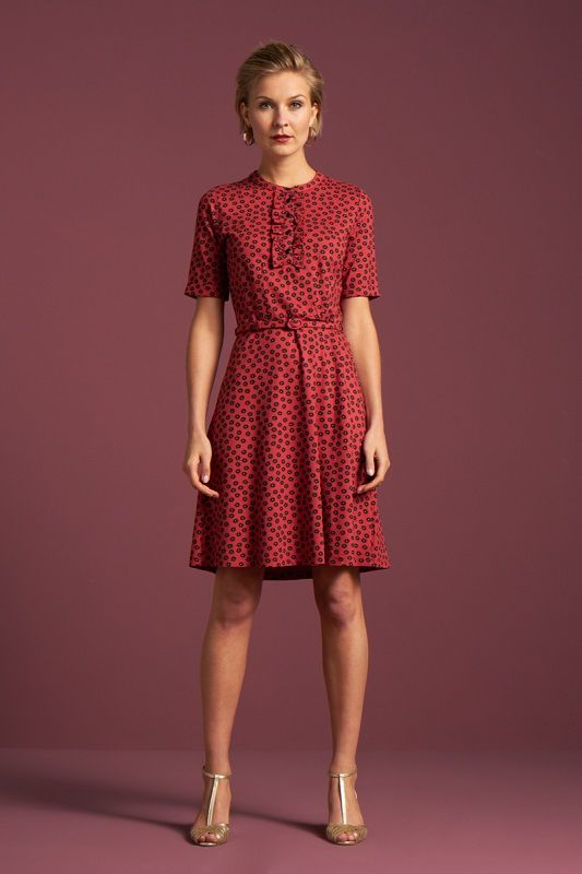 Gaya Dress Orbit Icon Red