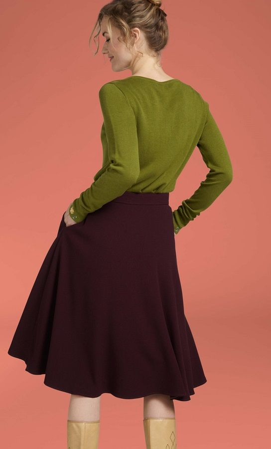 Cardi Roundneck Bouquet Posey Green
