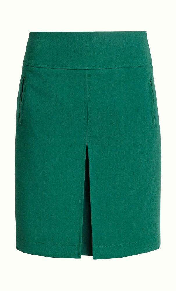 Border Pleat Skirt Tribeca Peacock Green