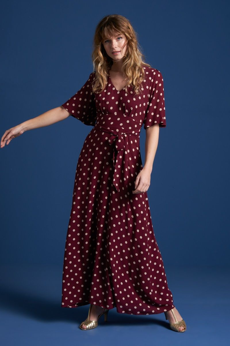 Shiloh Dress Polkadot Windsor Red