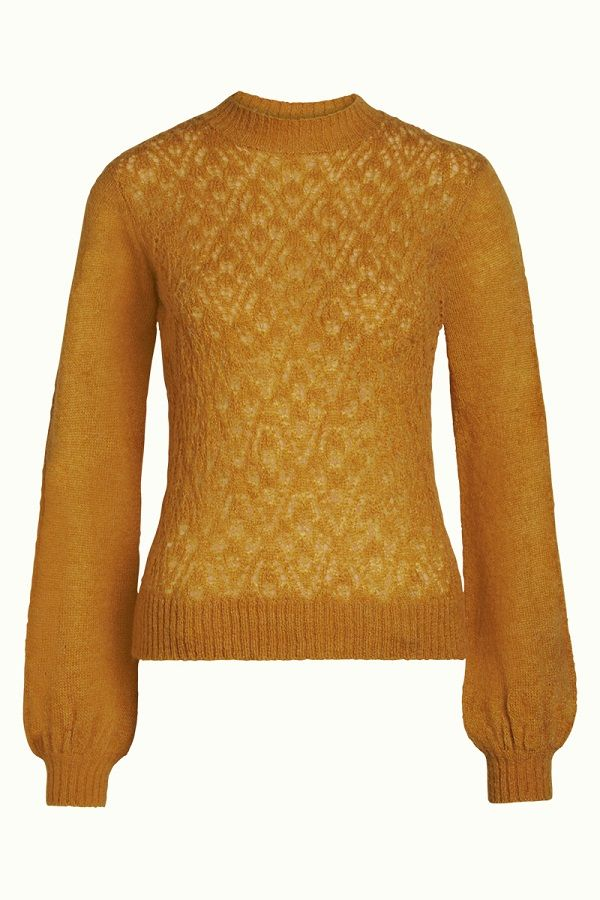 Puff Sleeve Top Rapallo Golden Brown